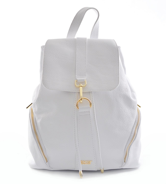 Bright Batoh dámský stahovací kožený A4 bílý