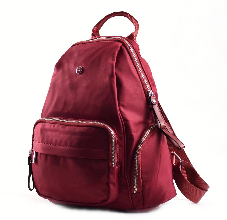 Bright Klasický dámský batoh s kapsami větší A5 vybavený bordó