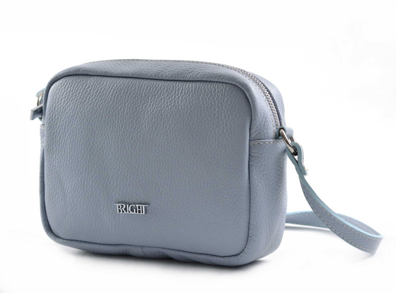 Bright Dámská kapsa klasická hladká kožená sv. modrá