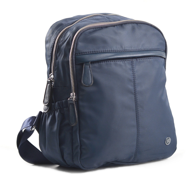 Bright Dámský batoh se 2 zipy a bočními kapsami větší A5 modrý