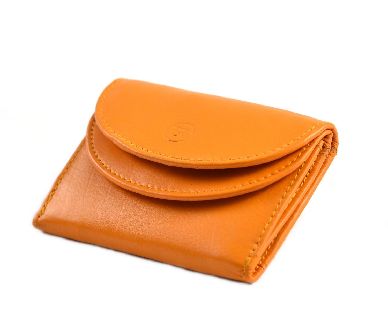 Levně BRIGHT Dámská mini peněženka Oranžová, 11 x 3 x 8 (KP00-D14133-96KUZ)