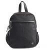 Bright Dámský batoh se 2 zipy a bočními kapsami větší A5 Backpack černý