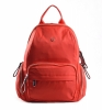 Bright Klasický dámský batoh s kapsami větší A5 vybavený Backpack červený