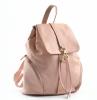 Bright Batoh dámský stahovací kožený A4 Backpack růžový