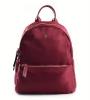 Bright Elegantní dámský batoh klasický větší A5 vybavený Backpack bordó