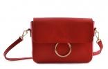 Bright Elegantní dámská kabelka menší kožená Handbag červená