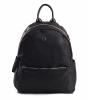 Bright Elegantní dámský batoh klasický větší A5 vybavený Backpack černý