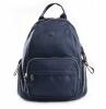Bright Klasický dámský batoh s kapsami větší A5 vybavený Backpack tmavě modrý