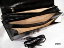 Aktovka pánská kožená L velká A4 vybavená černá