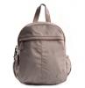 Bright Dámský batoh se 2 zipy a bočními kapsami větší A5 Backpack béžový