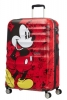 AT Dětský kufr Wavebreaker Disney Spinner 77/29 Mickey Comics Red