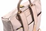 Bright Dámský batůžek s maxi zipem uprostřed větší A5 Backpack béžový