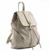 Bright Batoh dámský stahovací kožený A4 Backpack smetanový