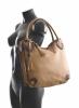 Fashion Bright Kabelka A4 se střapcem a 2 zipové kapsy Handbag hnědá rezavá