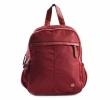 Bright Dámský batoh se 2 zipy a bočními kapsami větší A5 Backpack bordó