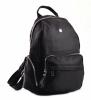 Bright Klasický dámský batoh s kapsami větší A5 vybavený Backpack černý