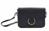 Bright Elegantní dámská kabelka menší kožená Handbag černá