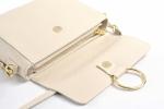 Bright Elegantní dámská kabelka menší kožená s kroužkem starorůžová