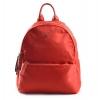 Bright Elegantní dámský batoh klasický větší A5 vybavený Backpack červený