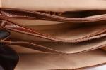 Aktovka pánská L (large) velká vybavená formát A4 kožená černá