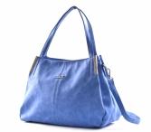 Bright Fashion kabelka-vak syntetická A4 světle modrá