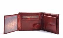 Unisex kožená peněženka na šířku vybavená bordó Doporučujeme!