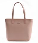 Bright Dámská elegantní kožená kabelka A4 hladká starorůžová