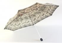 "H.DUE.O Deštník dámský ""Snake"" skládací had lehký černo-béžový"