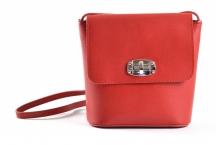 Bright Fashion kabelka-kapsa kožená dámská červená
