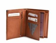 Bright Pánská peněženka kožená vybavená na výšku hnědá