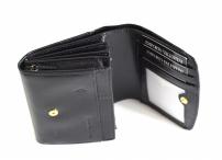 Valentini Dámská peněženka střední na výšku kožená černá
