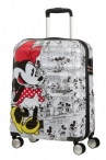 AT Dětský kufr Wavebreaker Disney Spinner 55/20 Cabin Minnie Comics White