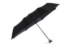 """H.DUE.O Deštník dámský """"CAT"""" skládací s glitrovým vzorem koček černý"""
