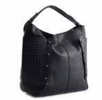 Bright Dámská kabelka A4 přes rameno s cvočky černá