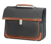 "SAMSONITE Aktovka na notebook 15,6"" Fairbrook 2 odd. Black/cognac"