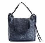Bright Dámská kabelka A4 přes rameno mramorovaná Exp. modrá