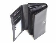 Valentini Dámská peněženka střední vybavená s dokladovkou kožená černá