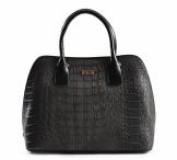 Bright Elegantní kabelka do ruky se vzorem krokodýlí kůže A5 černá