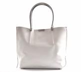Bright Fashion kabelka a kapsa 2v1 syntetická A4 bílo-šedá