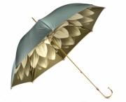 """Pasotti Luxusní dámský deštník holový """"Květ"""" a kamínky mech. zelený"""