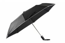 Bright Deštník skládací vystřelovací deštník s lemem černo-šedý