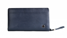 Bright Etue pánská kožená zipová vhodná na doklady a peníze modrá