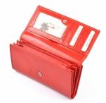 Dámská peněženka kožená na šířku s dokladovou částí vybavená červená