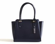 Bright Elegantní kožená kabelka zipová do ruky A5 matná modrá