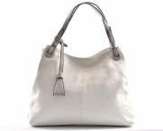 Bright Fashion dámská kabelka větší A4 se 3 odděleními bílá