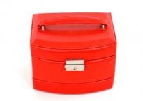 BRIGHT Šperkovnice 3 patra box střední s vrásami červená