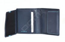 Samsonite pánská peněženka kožená OUTLINE na výšku klasická modrá
