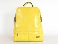 Bright Elegantní dámský batoh A5 vybavený jemně lesklý žlutý