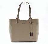 Bright Elegantní kabelka dámská kožená A4 klasická béžová