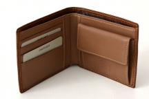 LAURA BIAGIOTTI Pánská peněženka vzor proužky na šířku hnědá